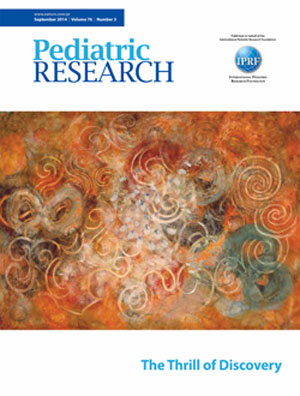 Pediatric Research Journal Cover